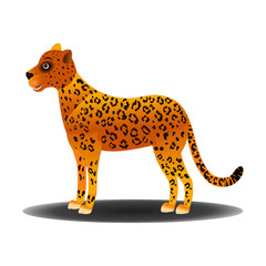 Leopard with Expressions - Cartoon Vector Image