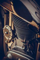 Vintage motorcycle cylinder