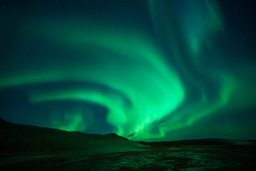 Printed kitchen splashbacks Northern lights Northern lights at the Geysir Srokkur Iceland
