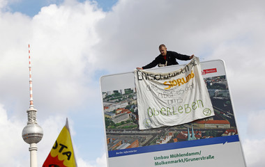 Climate activists from Extinction Rebellion launch a new wave of civil disobedience in Berlin