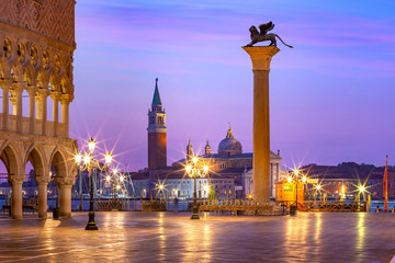 Fototapete - San Marco square at sunrise. Venice, Italy