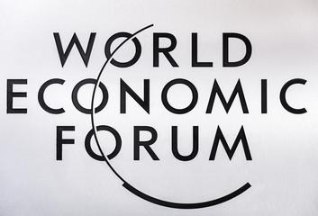 Emblem of the World Economic Forum in Davos