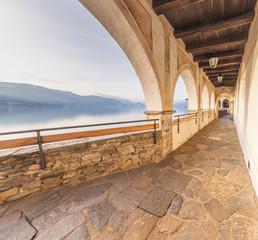 Hermitage of Santa Caterina del Sasso, Lake Maggiore, Varese, Lombardy, Italy