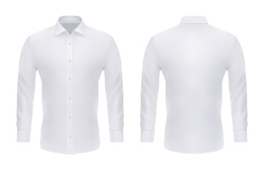 Wall Mural - Formal realistic shirt with buttons for man