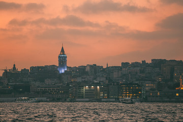 The Galata Tower called Christea Turris by the Genoese is a medieval stone tower in the Galata/Karaköy quarter of Istanbul, Turkey,