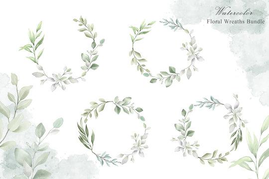 watercolor wedding frames multi purpose template design collection