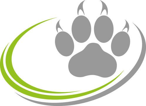 Katzenpfote, Pfote, Katzen, Logo, Button