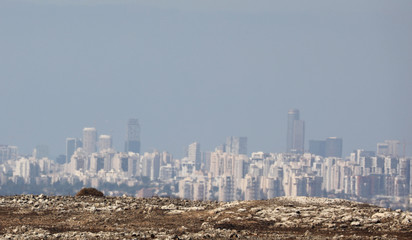 A general view of the urban landscape of Tel Aviv