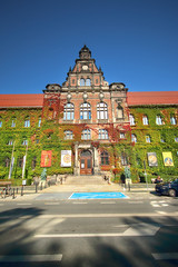 WROCLAW, POLAND - OCTOBER 06, 2019: Wroclaw Old Town. The National Museum in Wroclaw occupies the building designed by an architect Karl Friedrich Endell and erected in 1883 - 1886.