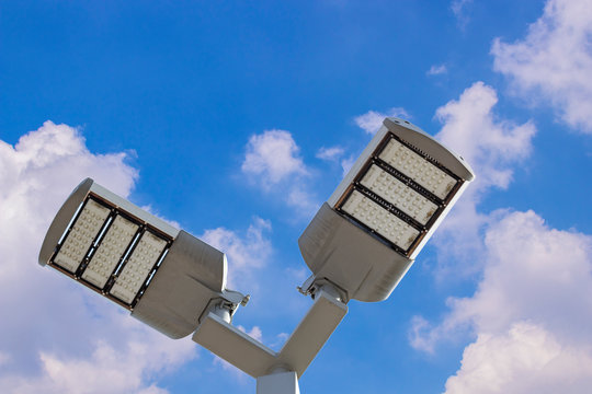 Led lamps post  for exterior applications such as parking lots, outdoor spaces or others.