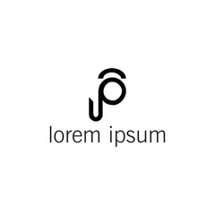 Leter P Logo vector design illustration