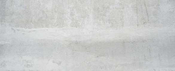 close up retro plain white color cement wall  panoramic background texture for show or advertise or promote product and content on display and web design element concept Fototapete