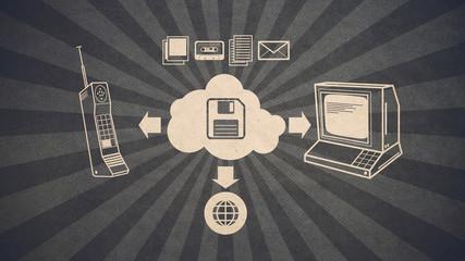 Old school cloud storage technology