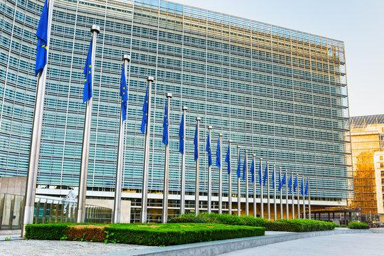 Berlaymont building in morning