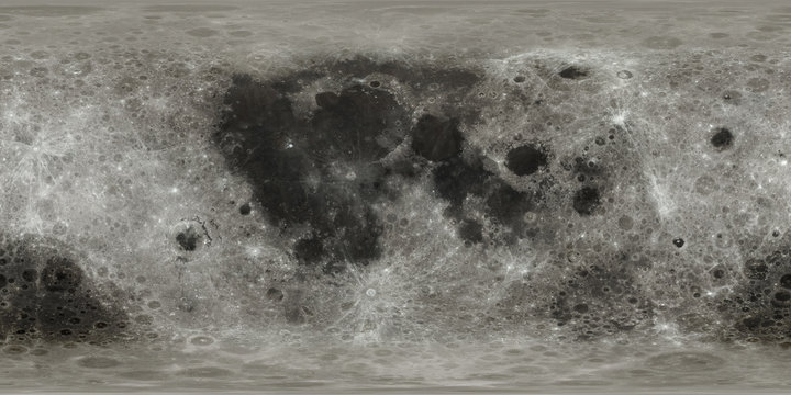 New highly detailed without blurriness Moon surface map