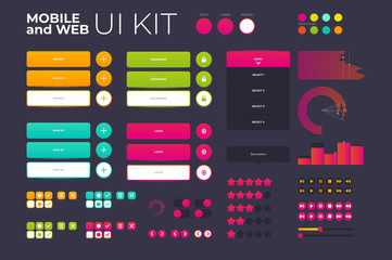 Ux ui kit for application and web site design