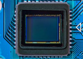 Sensor of a digital photo camera in detail - Macro photography of the sensor of a digital camera