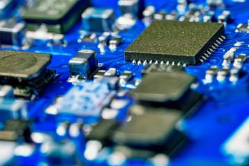 Circuit Board of a Digital Photo Camera in Detail - Macro Photography of Circuits of a Digital Camera
