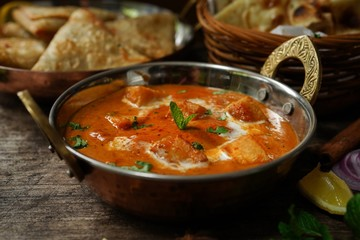 Paneer Butter Masala with Rot i- Diwali special Indian vegetarian meal