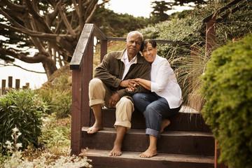 Portrait of a smiling senior couple.