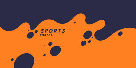 Abstract background with splashes. Modern vector illustration for sport