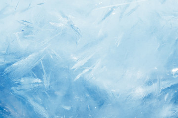 blue frozen texture of ice Wall mural