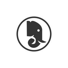 unique elephant animal logo template