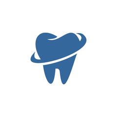 Creative dental clinic logo vector. Abstract dental symbol icon with modern design style