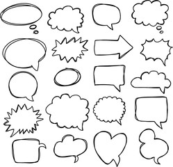 Speech bubble – speech balloon or chat bubble line art vector icon for apps and websites. Dream cloud isolated icon. Modern pictogram. Vector symbol.