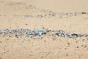Micro Plastics Washing Ashore On The Beach In Hawaii, USA