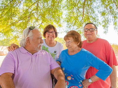 Hispanic Seniors Outdoors