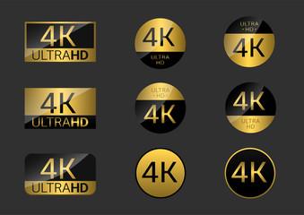 4K simple badges