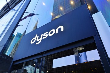 NEW YORK CITY, NY -4 OCT 2019- View of a Dyson store on Fifth Avenue in New York, USA. Dyson is a British technology company of household appliances.