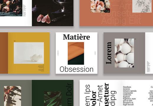 Mise en page moderne d'un lookbook
