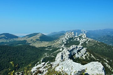 Croatia-view of the mountains in the Velebit National Park