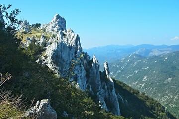 Croatia-view of the rock town of Dabarski kukovi in the Velebit National Park