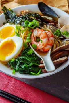 Kombu Broth Seafood Ramen
