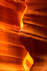 Wall Murals Magenta Antelope Canyon in the Navajo Reservation near Page, Arizona USA