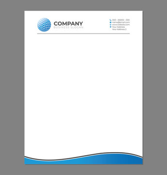 Blank Letterhead Template for Print with Sphere Logo