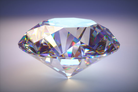Giant Diamond Gem With Clipping Path