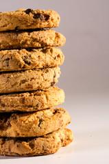 Fototapeten Kekse group of delicious chocochips cookies