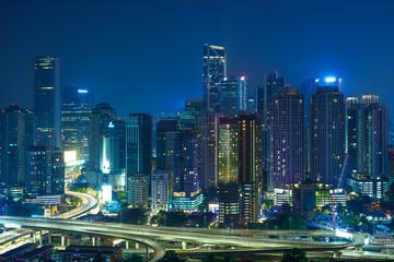 Fotomurales - Beautiful architecture building exterior skyscrapers in Kuala Lumpur , Malaysia .
