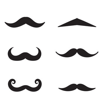 Moustache icon with handdrawn doodle style