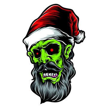 zombie santa vector and logo