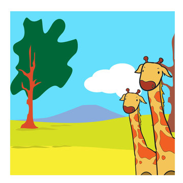 coloring page of giraffe