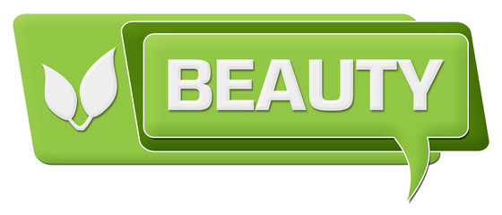 Beauty Green Comment Symbol Horizontal