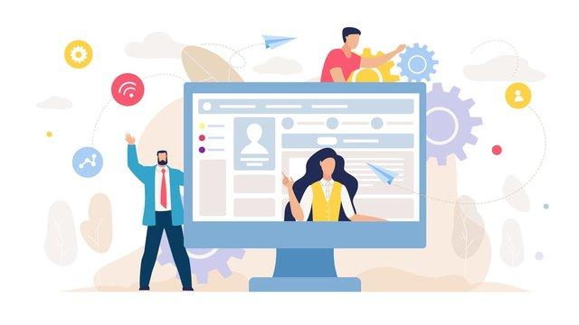 Social Network Management and Marketing Cartoon