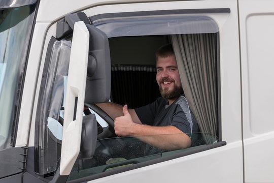 Fahrer eines LKWs