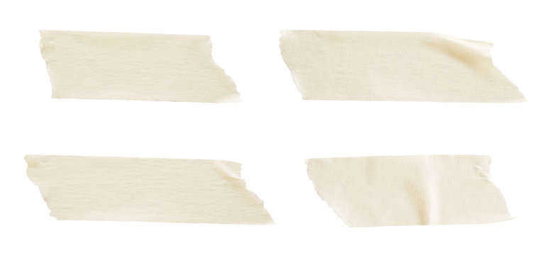 adhesive paper tape isolated on white background