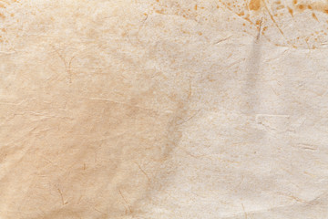 Texture of beige old paper, crumpled background. Vintage white grunge surface backdrop. Wall mural